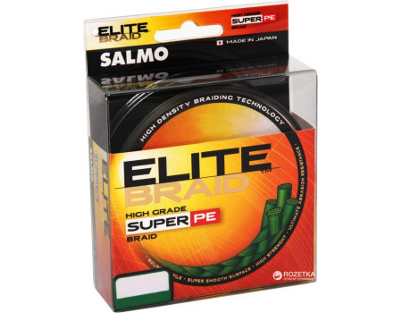 Шнур Salmo Elite Braid 0,11мм 91м зеленая