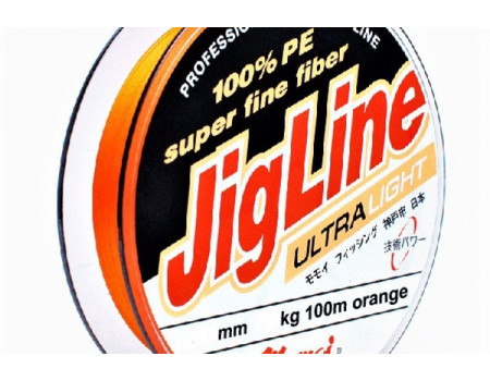 Шнур JigLine Uitra Light 0,06 мм, 4,5 кг, 100 м, оранж