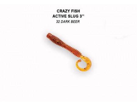 """Силикон Crazy Fish ACTIVE SLUG 3"""" 30-70-32-6"""