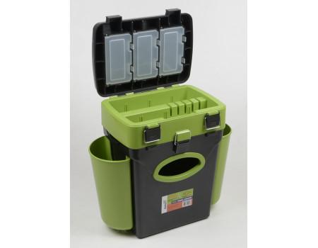 Ящик Helios 10 л.Fish Box зимний  зеленый
