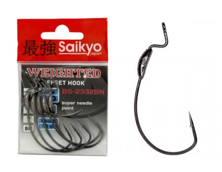 Крючки Saikyo BS-2332 Weighted BN №2/0 (5 шт)