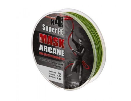 Шнур Akkoi Mask Arcane X4-150 (green) d0,10mm