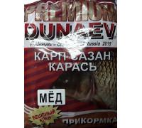 Прикормка Dunaev Премиум Карп,Сазан мёд красная 1 кг