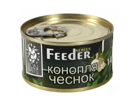 Зерновая смесь Lion Baits Feder конопля чеснок 140мл.