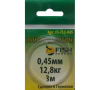 Поводковый Fish Seasonматериал ФЛЮОР 0,40 мм тест 10,2 кг 3м