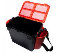 Ящик helios зимний fish box 19л односекц. 2 кармана оранжевый