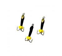Мормышка Yaman вольф Черт с петлей с латунной коронкой d-2 мм, вес 0,4 г, бисер, цв. флуор. желтый