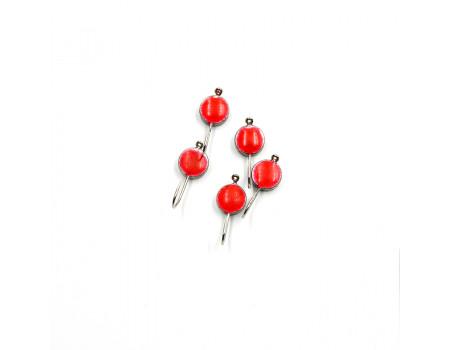 Мормышка Yaman вольф Полусфера с ушком и кр. флюриком, р.3, вес 0,20 цв.никель