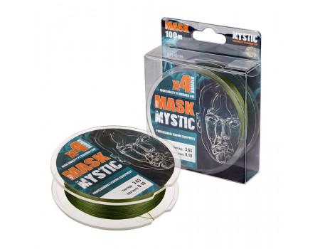 Шнур Akkoi Mask Mystic X4-100 (deep green) d0,16mm