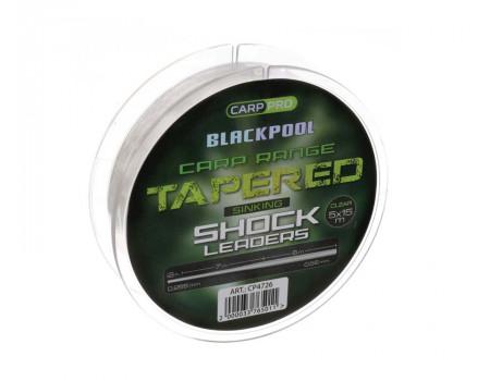 Шок лидер CARP PRO Blackpool Sink Tapered Mono 0.255-0.56 мм, 5х15 м CP4726