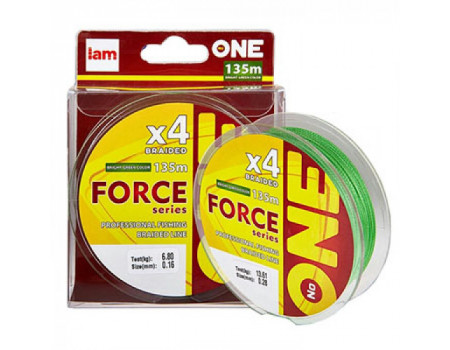 Шнур IAM №ONE Force X4-135m bright-green 0.08