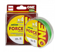 Шнур IAM №ONE Force X4-135m bright-green 0.10