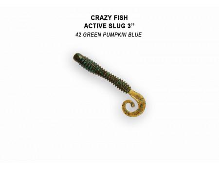 """Силикон Crazy Fish ACTIVE SLUG 3"""" 30-70-42-6"""