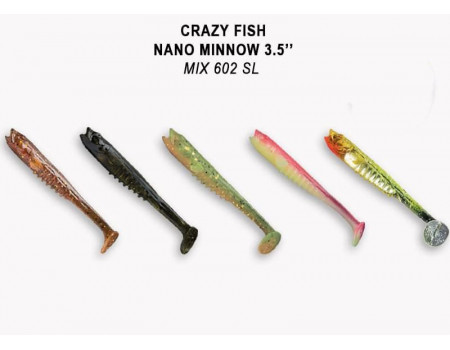 Силикон Crazy Fish Nano Minnow 3.5 54-90-M602SL-7