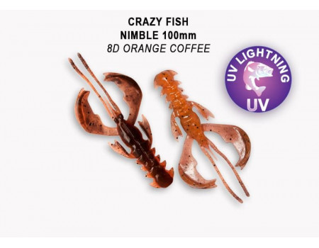 Силикон Crazy Fish NIMBLE 4 43-100-8d-6-V