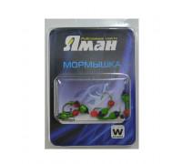 Мормышка ЯМАН лесотка №1, d-2 мм, l-7,5 мм, вес 0,30 г, фц. Красный шар, цв. Салатовый