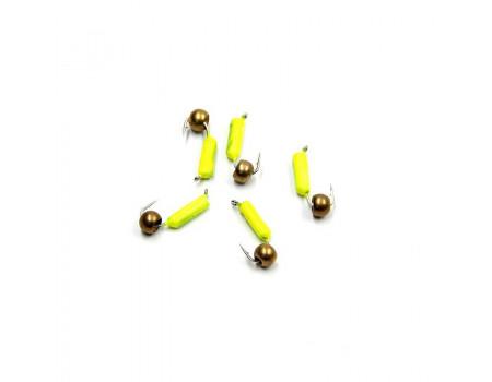 Мормышка Yaman гвоздешарик желтый, d-2,5 мм, вес 0,6 г, шар латунный