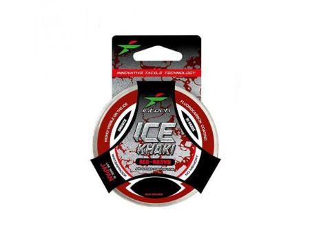 Леска Intech ice Khaki red-brown 30m 0.126mm 1.4kg