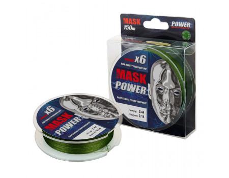 Шнур Akkoi Mask Power Х6-150m (dark-green) d0,14mm