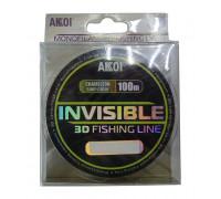 Леска Akkoi Invisible 3D хамелеон (100m) ф-0,14mm (4,1 кг)