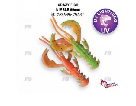 """Силикон Crazy Fish Nimble 2"""" 50-50-5d-6-F"""