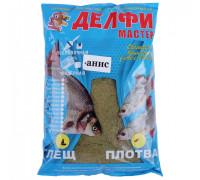Прикормка Delfi Мастер Лещ Плотва Анис черный 800 гр.