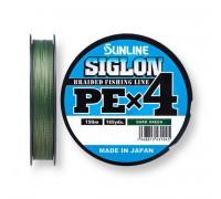 Шнур Sunline Siglon PEx4 DarkGreen #1 16lb 150м 7,7 кг.