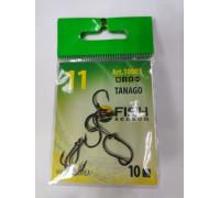 Крючок TANAGO-RING № 11 с ушком, покрытие BN (10 шт)