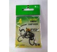Крючок CARP HOOK №4 с ушком, покрытие BN (10 шт)
