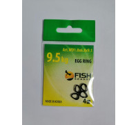 Кольцо Fish Season титан разжимное 1,0х6,8 х9,1 мм 9,5кг