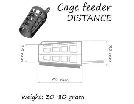 Кормушка ORANGE Distance Cage Feeder 30 гр.