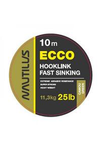 Поводковый Nautilus материал Ecco 25 lb 10 м. Camou Green