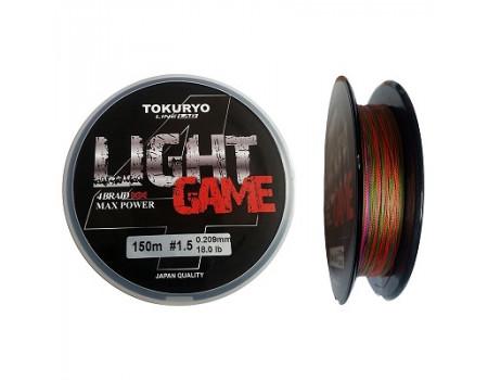 Шнур Tokuryo Power Light Game X4 Multi 0.4 PE 150м. 0.108 мм. 5,0 lb