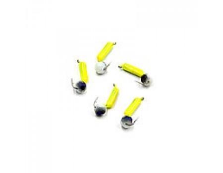Мормышка Yaman Гвоздешарик желтый, d-2 мм, вес 0,45 г, кристалл белый