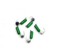 Мормышка Yaman Гвоздешарик зеленый, d-2,5 мм, вес 0,6 г, кристалл белый