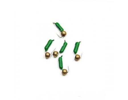 Мормышка Yaman Гвоздешарик зеленый, d-2,5 мм, вес 0,6 г, шарик латунный