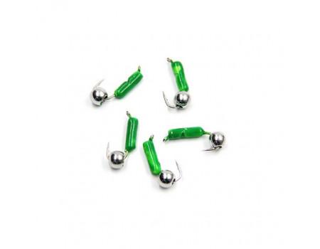 Мормышка Yaman Гвоздешарик зеленый, d-2,5 мм, вес 0,6 г, шарик никелированный