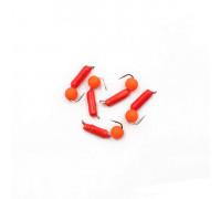 Мормышка Yaman Гвоздешарик красный, d-2 мм, вес 0,45 г, шарик оранжевый неон
