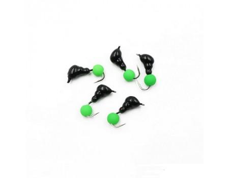 Мормышка Yaman Муравей с ушк. вес 0,6 г шарик зеленый