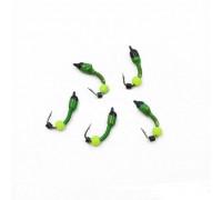 Мормышка Yaman Лесотка №2, d-2,5 мм, L-8 мм, вес 0,35 г, фц. желтый шар, цв. салатовый