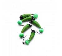 Мормышка Yaman Ручейник №3, d-1.5 мм, L-8.5 мм, вес 0,45 гр., фц. зеленый шар, цв. салатовый