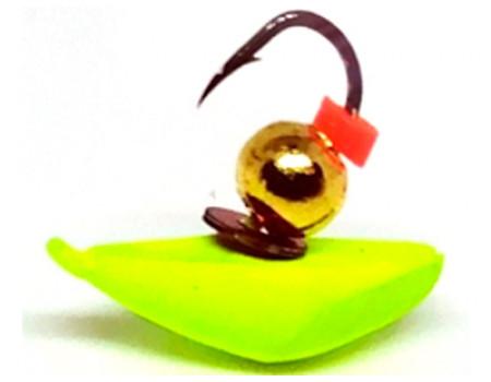 Мормышка Ulov 37 клоп хрень желт. неон 0,5 гр. 3 мм. арт. 258