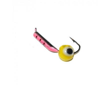 Мормышка Mastiv 1,5 красный, черный окунёвый глаз 09-047 0,2 гр. желт.