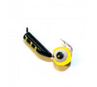 Мормышка Mastiv 2 черный окунёвый глаз 09-011 0,4 гр. желт.