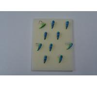 Мормышка Mastiv 3 хрень синий, желтый гр. шар 02-168 0,65 гр. бел.