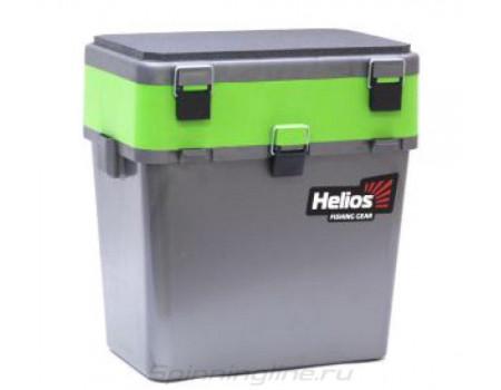 Ящик Helios зимний 19л 2 секции серый/салатовый hs-ib-19gg