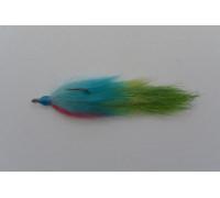 Стриммер SerChem 3 вязки красно-сине-зеленый крючек 2/0 90 мм.