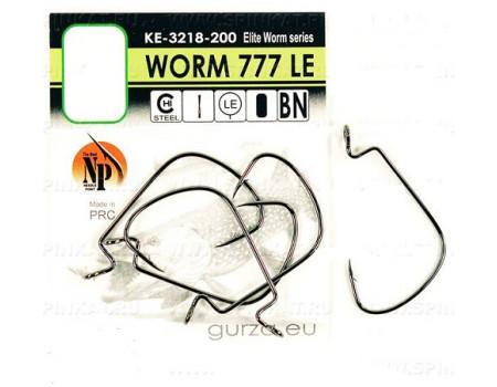 Крючки Gurza офсетные Worm 777 LE № 1/0 BN