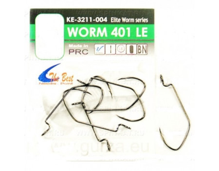 Крючки Gurza офсетные Worm 401 LE № 2/0 BN