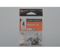 Крючки Gurza офсетные Trout J3 № 4 BN
